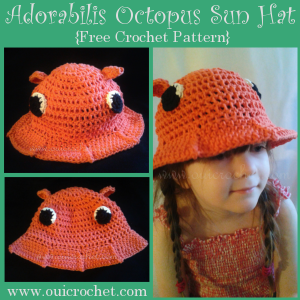 Adorabilis Octopus Toddler Sun Hat ~ Oui Crochet