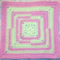 Avant-Garde Square 12″ ~ SmoothFox Crochet and Knit