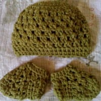 Baby Granny Beanie and Sockies Set ~ Dee Ann H - Joyful In Tribulation