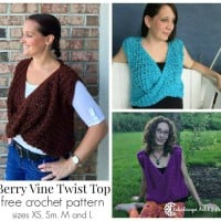 Berry Vine Twist Front Top ~ Lisa Jelle – Cre8tion Crochet