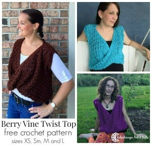 Berry Vine Twist Front ~ Lisa Jelle - Cre8tion Crochet