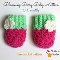 Blooming Berry Baby Mittens ~ My Hobby is Crochet