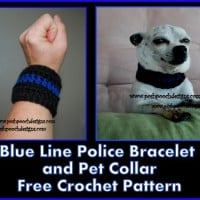 Blue Line Police Bracelet/ Pet Collar ~ Sara Sach – Posh Pooch Designs