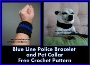 Blue Line Police Bracelet/ Pet Collar ~ Sara Sach - Posh Pooch Designs