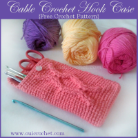 Cable Crochet Hook Case ~ Oui Crochet