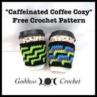 Caffeinated Coffee Cozy ~ Goddess Crochet