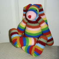 Colorful Striped Bunny ~ Free Patterns by H
