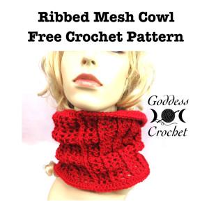 Ribbed Mesh Cowl ~ Goddess Crochet