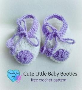 Cute Little Baby Booties ~ Erangi Udeshika - Crochet For You