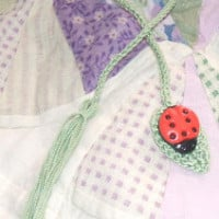 Bug on a Leaf Bookmark ~ April Moreland – The Left Side of Crochet