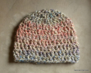 Adult Bulky Beanie ~ Swirls and Sprinkles