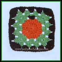 Sweet Little Pumpkin Square ~ Sara Sach - Posh Pooch Designs