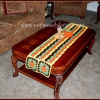 Fall Pumpkins Table Runner ~ Sara Sach - Posh Pooch Designs