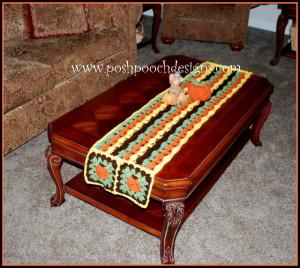 Fall Pumpkins Table Runner ~ Sara Sach - Posh Pooch Designs