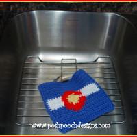 Colorado Wash Cloth ~ Sara Sach - Posh Pooch Designs