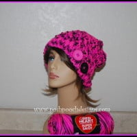 Pinky Crossover Slouch Hat ~ Sara Sach – Posh Pooch Designs