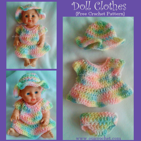 Doll Clothes Free Crochet Pattern