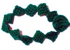 Emerald Drops Bracelet ~ Crochet Spot