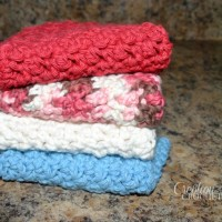 The Ups and Downs of Dishes Dishcloth ~ Lorene Eppolite – Cre8tion Crochet.