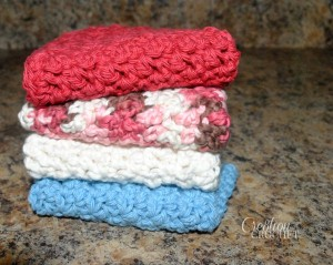 The Ups and Downs of Dishes Dishcloth ~ Lorene Eppolite - Cre8tion Crochet.