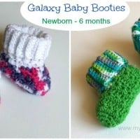 Galaxy Baby Booties ~ My Hobby is Crochet