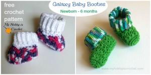 Galaxy Baby Booties ~ My Hobby is Crochet