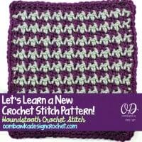 Houndstooth Crochet Stitch ~ Oombawka Design