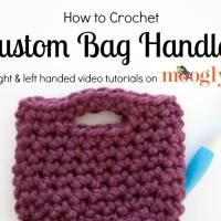 How to Crochet Bag Handles ~ Moogly
