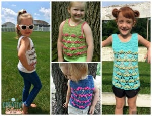 Blooming Flowers Tank Top ~ Creative Threads by Leah - Cre8tion Crochet