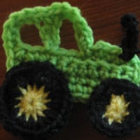 Tractor Applique ~ Knot Your Nana's Crochet