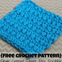 Single Crochet Square Face Scrubbie ~ Cream Of The Crop Crochet