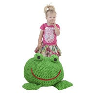 Frog Footstool ~ Annemarie's Crochet Blog