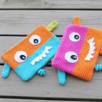 Monster Pencil Case or Pouch ~ Crochet Dreamz