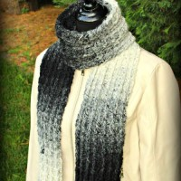 Ombre Ridges Scarf ~ Beatrice Ryan Designs