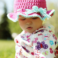 6-9 Month Sun Hat ~ Stitch11