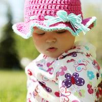 6-9 Month Sun Hat ~ Stitch11