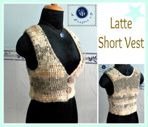 Latte Short Vest ~ Maz Kwok's Designs