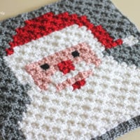 Santa Pixel Square ~ Repeat Crafter Me