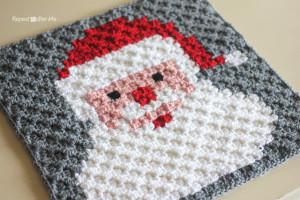 Santa Pixel Square ~ Repeat Crafter Me
