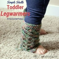 Simple Shells Toddler Leg Warmers ~ My Hobby is Crochet