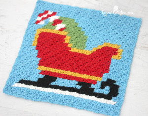 Sleigh Pixel Square ~ Repeat Crafter Me