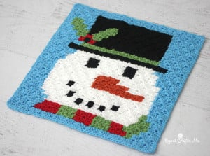 Snowman Pixel Graph ~ Repeat Crafter Me