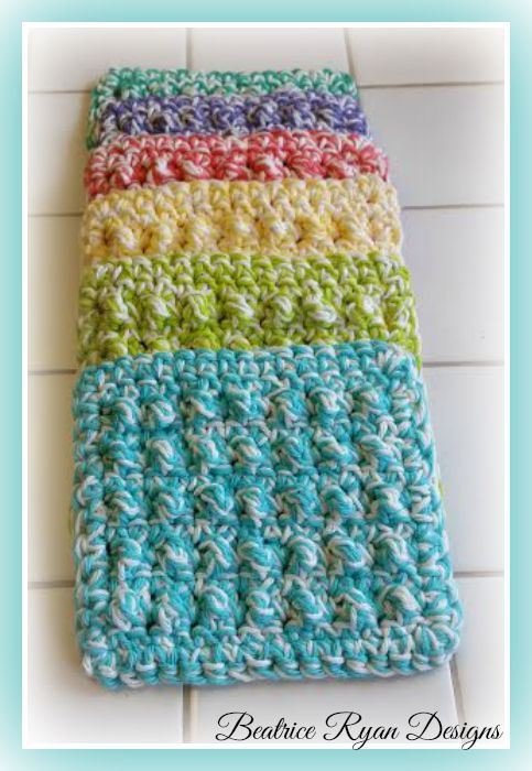 Free Crochet Pattern Quick : Thick & Quick Bumpy Scrubby ~ FREE Crochet Pattern