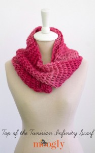 Top of the Tunisian Infinity Scarf ~ Moogly