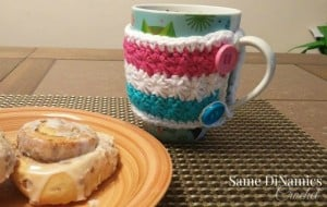 Wrapped in Stars Mug Cozy ~ Diane Hunt - Cre8tion Crochet