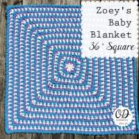 Zoey's Baby Blanket ~ Oombawka Design