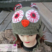 Zombie Owl Hat ~ Knot Your Nana's Crochet