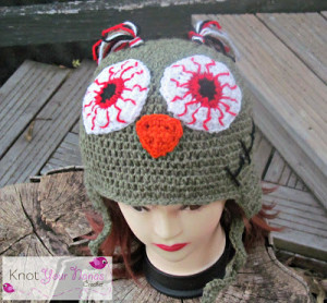 Zombie Owl Hat ~ Knot Your Nana's Crochet