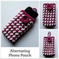 Alternating Phone Pouch ~ Rhelena - CrochetN'Crafts