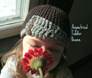 Asymmetrical Toddler Hat ~ Simply Homemade by Mama G